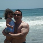 Daddy and me day Laguna Beach. Arms look good. Stomach, hide it behind the princess